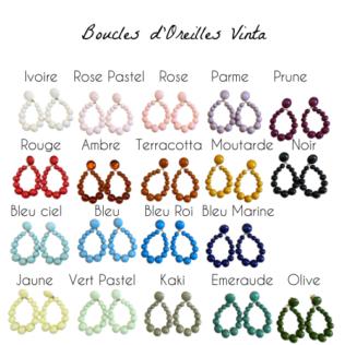 Boucles d'Oreilles VINTA – New Couleurs